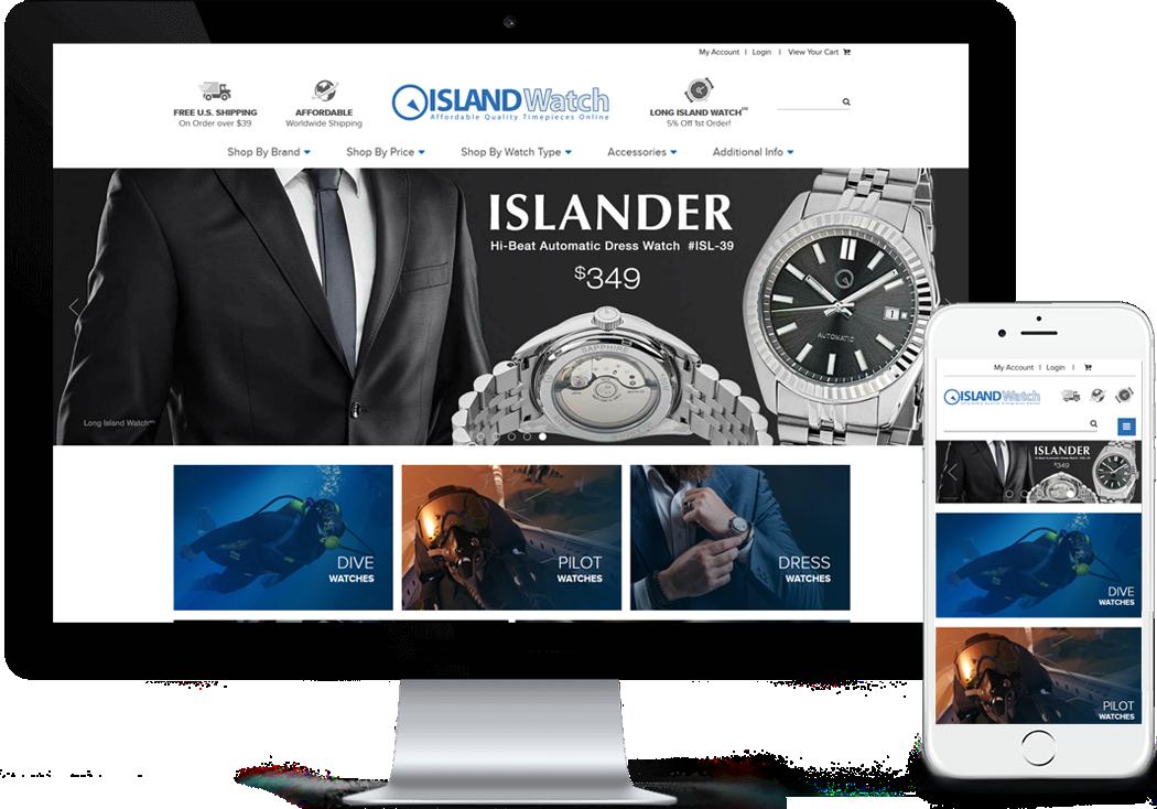LongIslandWatch.com BigCommerce Site Redesign and Migration