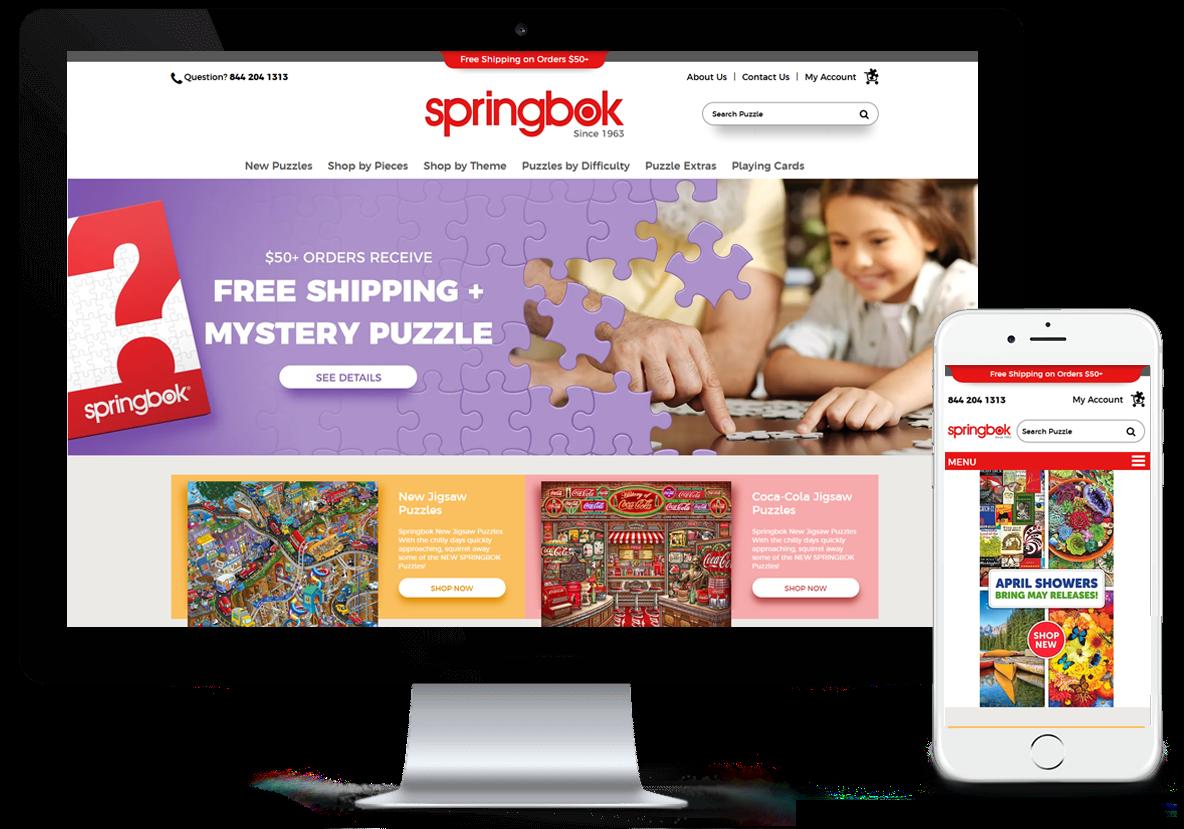Springbok-Puzzles.com Headless Site Redesign and Development