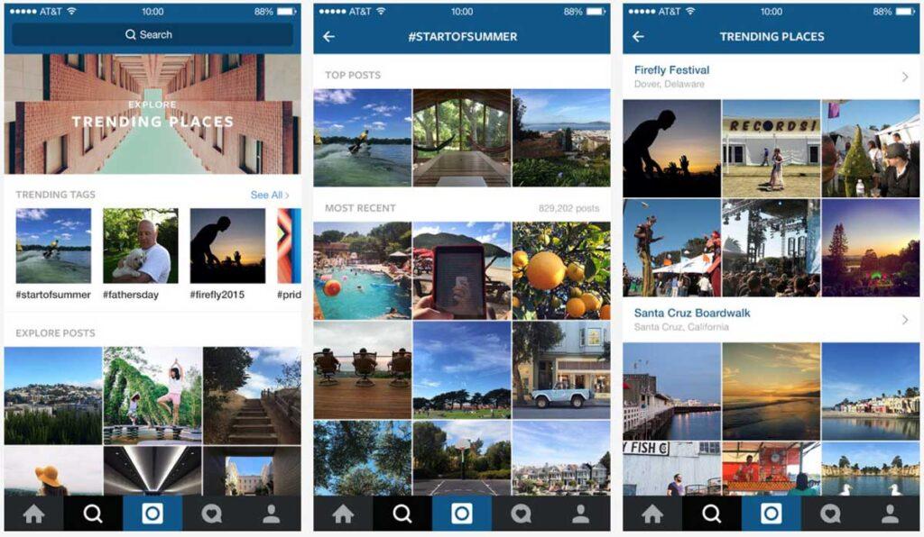 instagram explor hashtahs