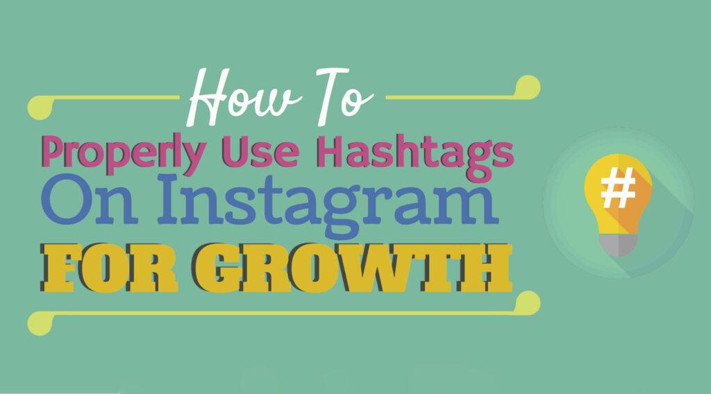 instagram growth via hashtags